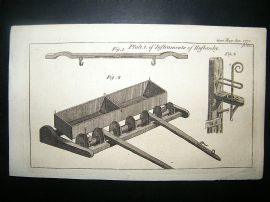 Agriculture: 1773 Plough Used In Husbandry.